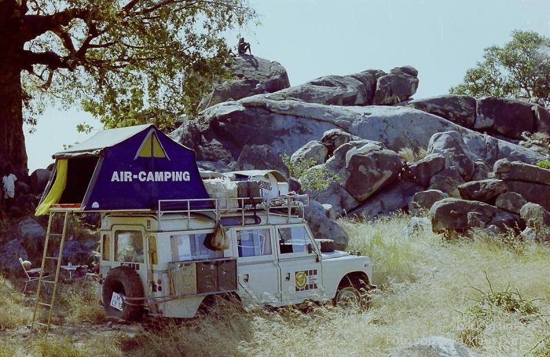 Camp in den Nubabergen-Sudan 1978