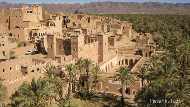Luftbild-Marokko-Kasbah-Agdz-Palmen