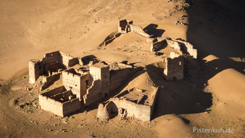 Luftbild-Marokko-Ruine-Kasbah-Tighremt-4