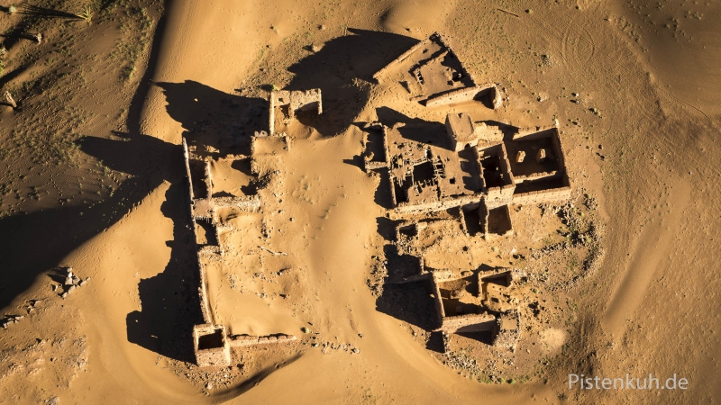 Luftbild-Marokko-Ruine-Kasbah-Tighremt