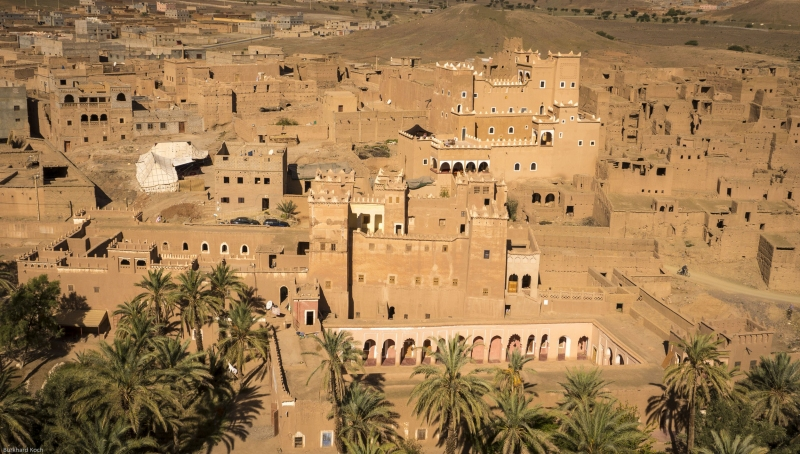 Marokko-Agdz-Luftbild-Kasbah