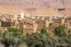 Marokko-Tinerhir-Moschee-Lehmbauten