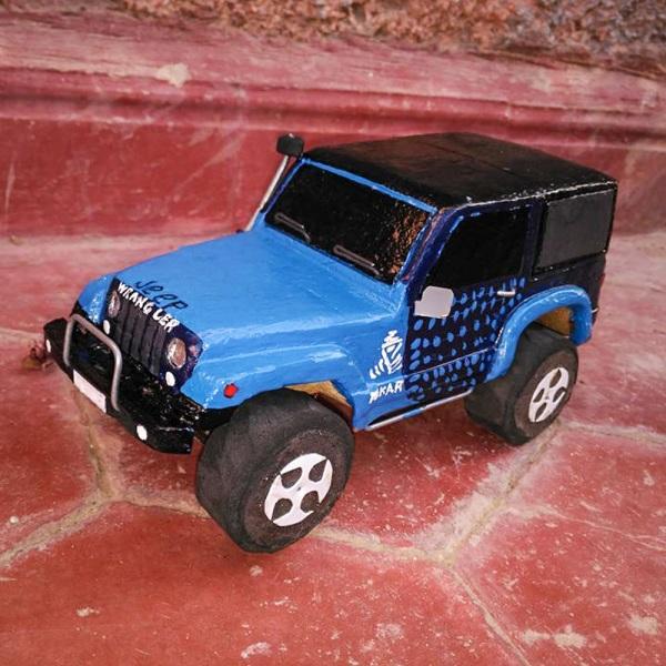 modellauto holz jeep wrangler