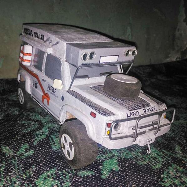 modellauto holz land rover campermobil