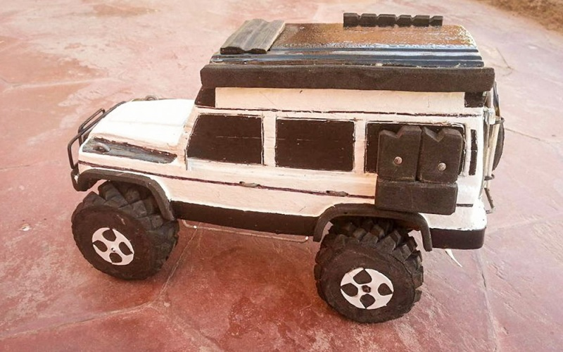 modellauto holz mercedes g campermobil
