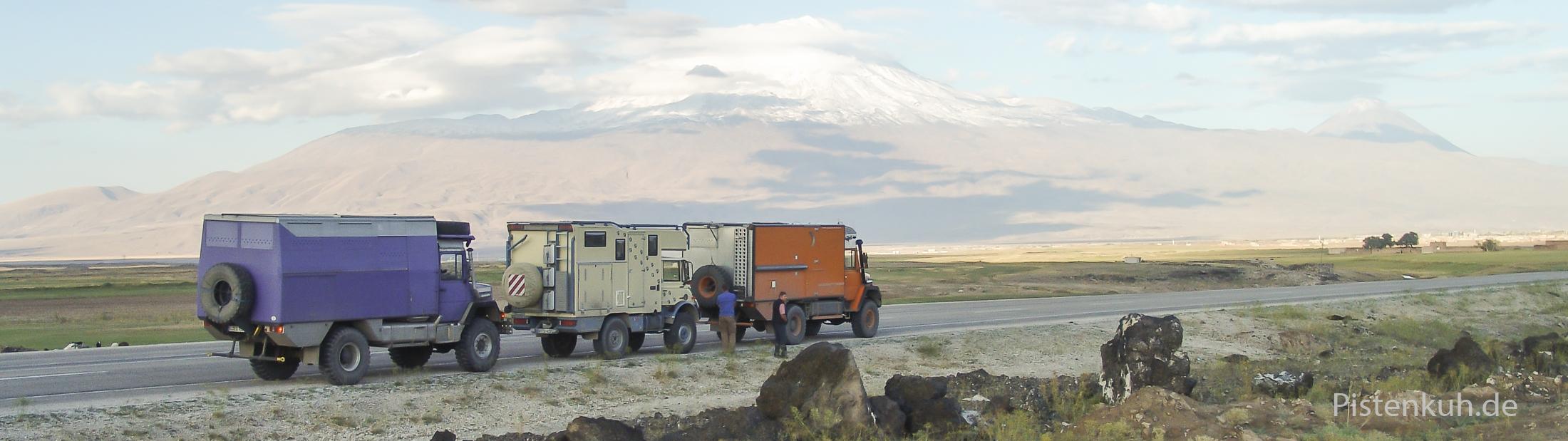 Unterwegs am Fuße des Ararat