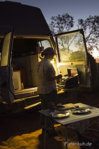 abendliche Campstimmung im Outback