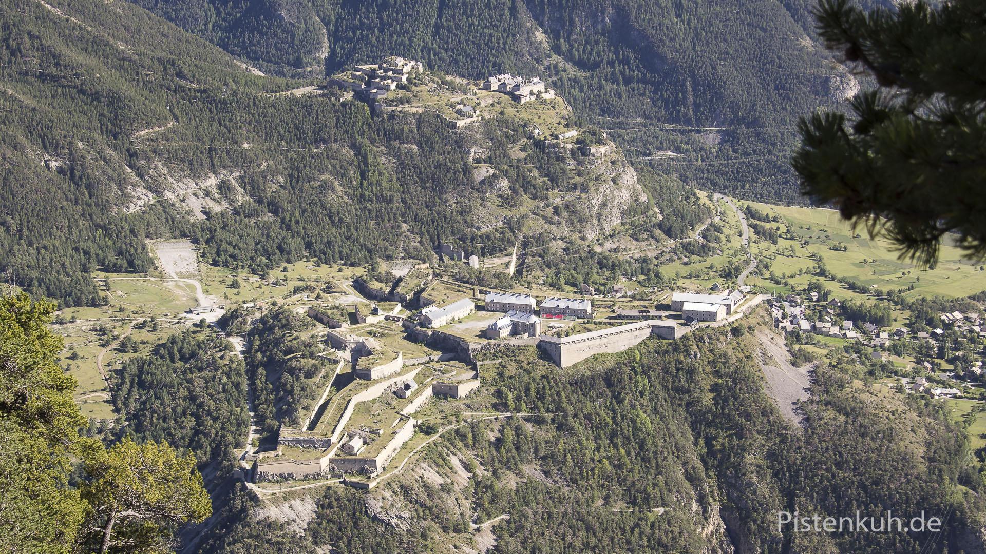 Blick auf die Festungsanlage von Briancon