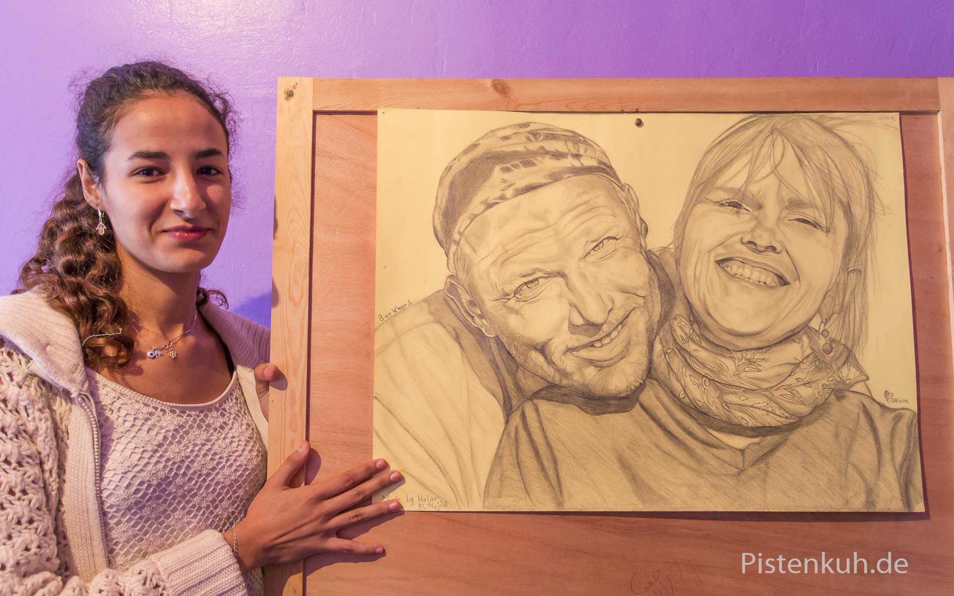 Künstlerin Hadjar in Tan-Tan