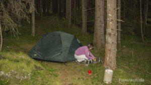 Übernachten im Wald