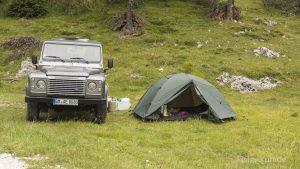 Campen beim Fort Verena.