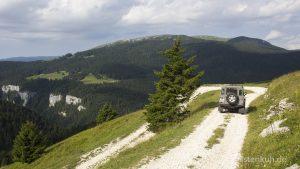 Auf dem Weg zum Monte Lisser