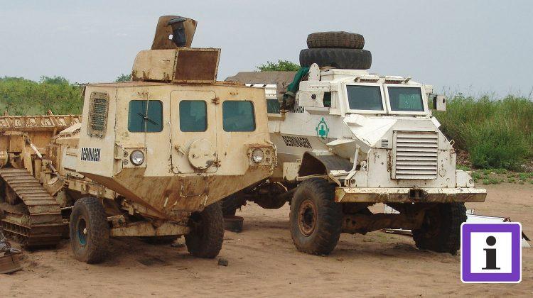 Minenräumfahrzeug in Angola