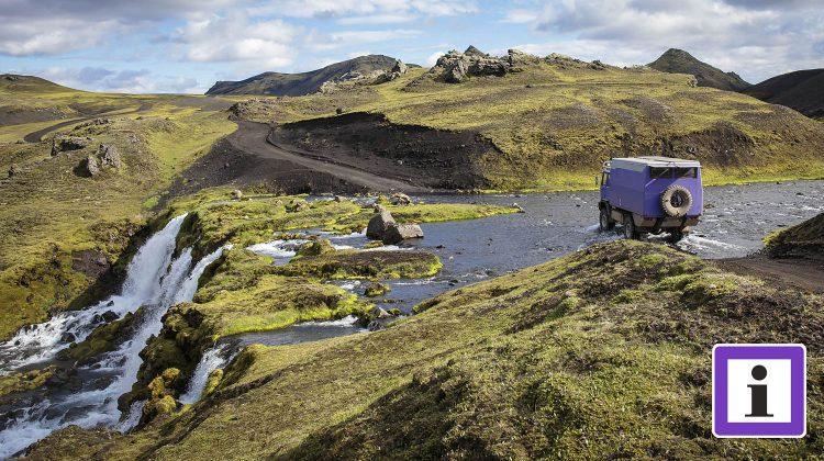 Offroadpiste in Island