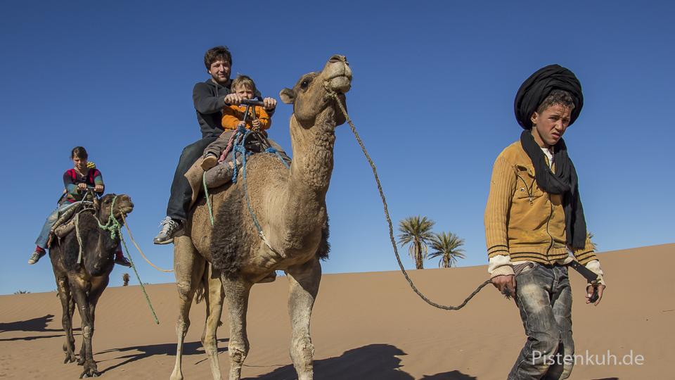Kamelritt in der Wüste