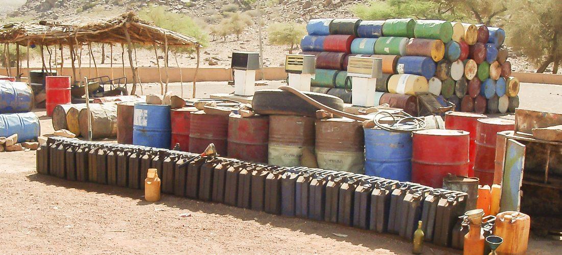 Tankanlage bei Expeditionsmobilen