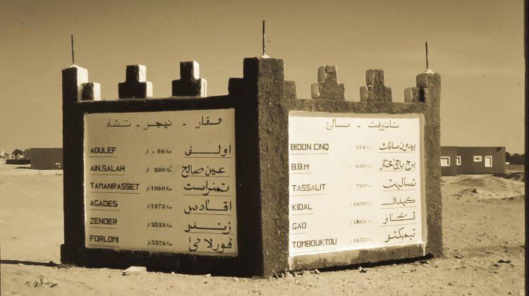 Wegweiser in Algerien 1992
