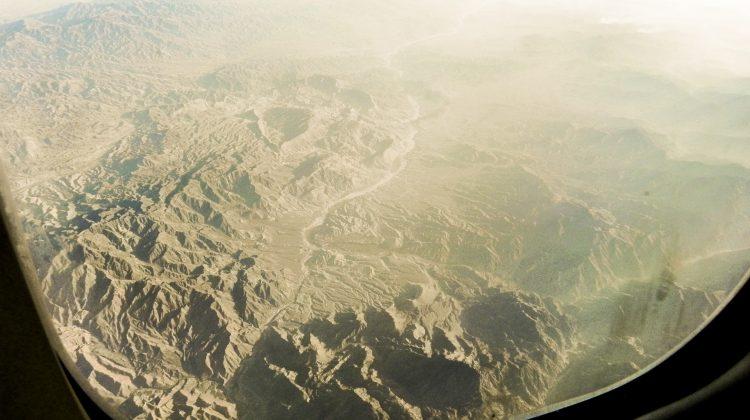 Flug über Afghanistan