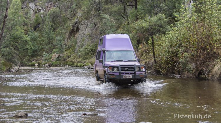 Mit dem Land Cruiser offroad in der High Country