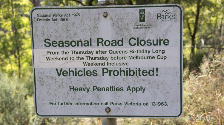 Straßenschild in Australien