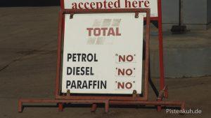 Tankstelle in Simbabwe