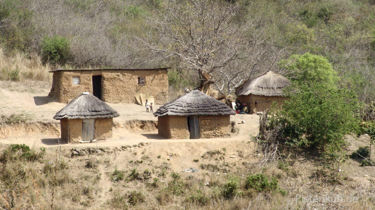Swasiland: typische Häuser
