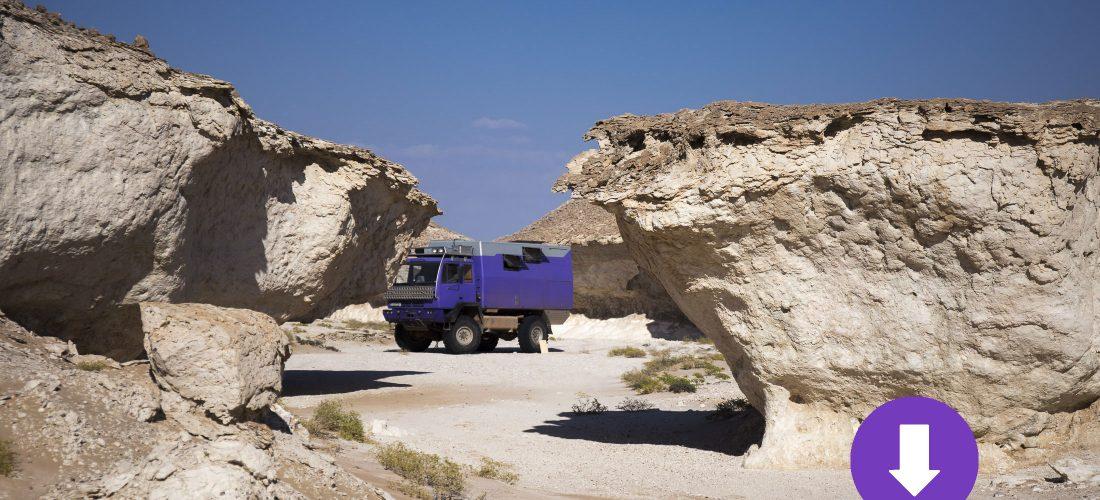 Waypoints und Track zu Kalk-Skulpturen in Oman