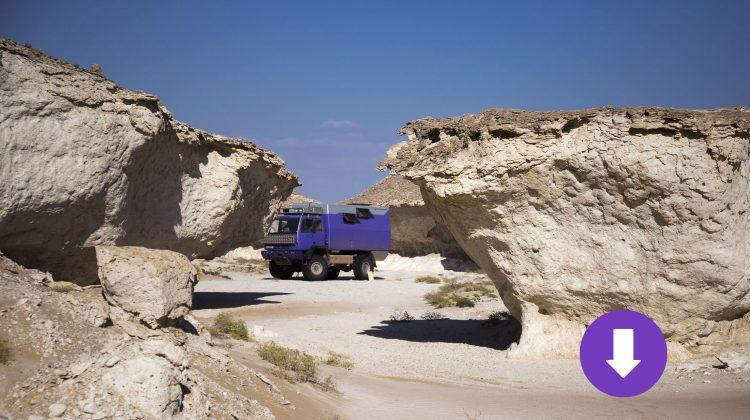 Oman-Kalkskulpturen