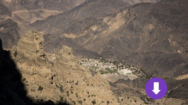 Hadjar-Gebirge-Oman