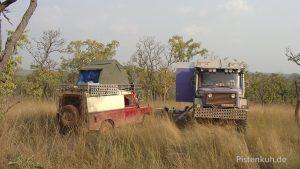 Freies campen ist in Ghana wegen der hohen Bevölkerungsdichte nicht so einfach.