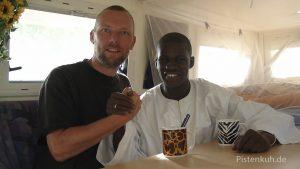 Student in Timbuktu hat eine Vorstellung von Europa