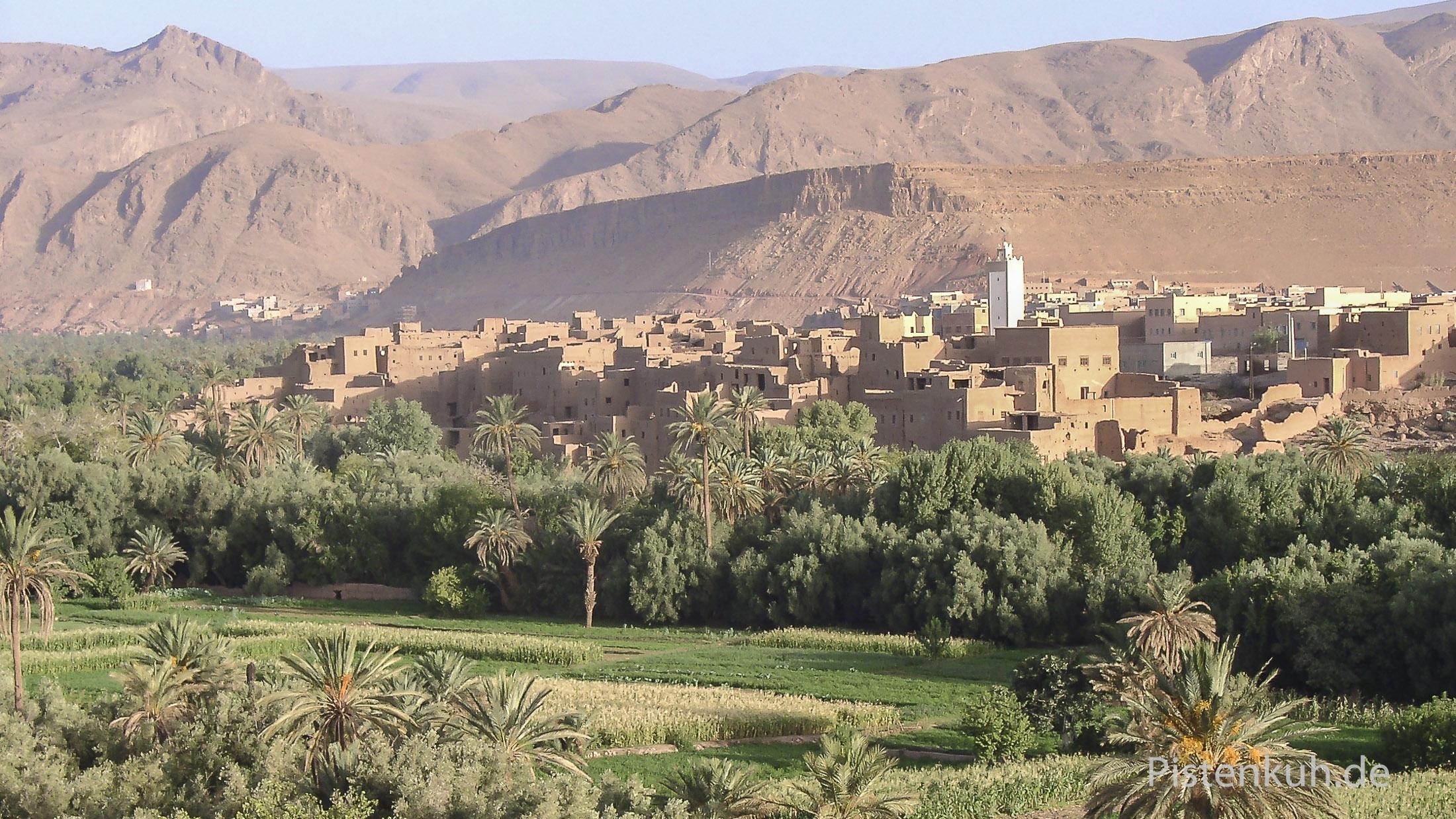 Oasenstadt Tinerhir im Süden Marokkos