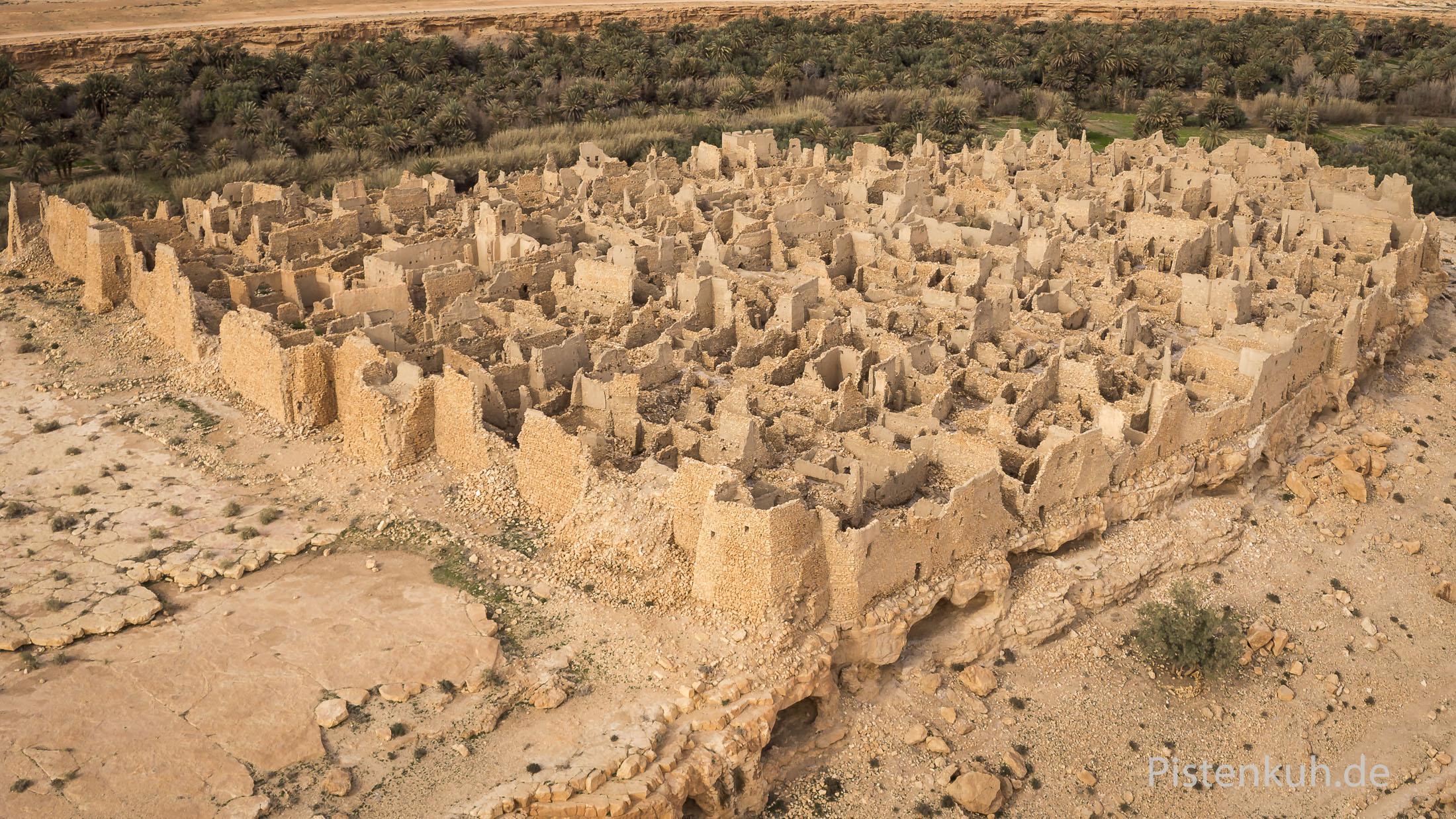 Luftbild von Old Meski in Marokko