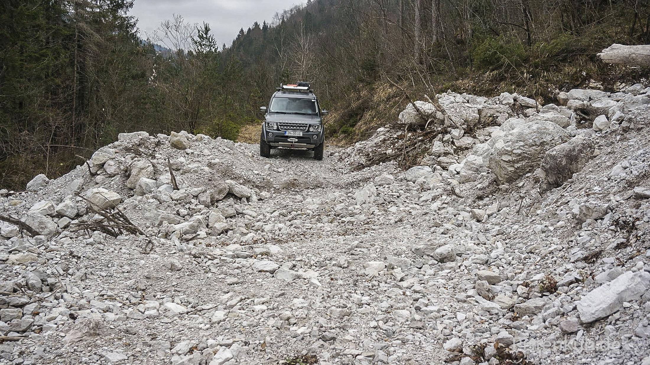 Mit dem Discovery im Gebirge unterwegs