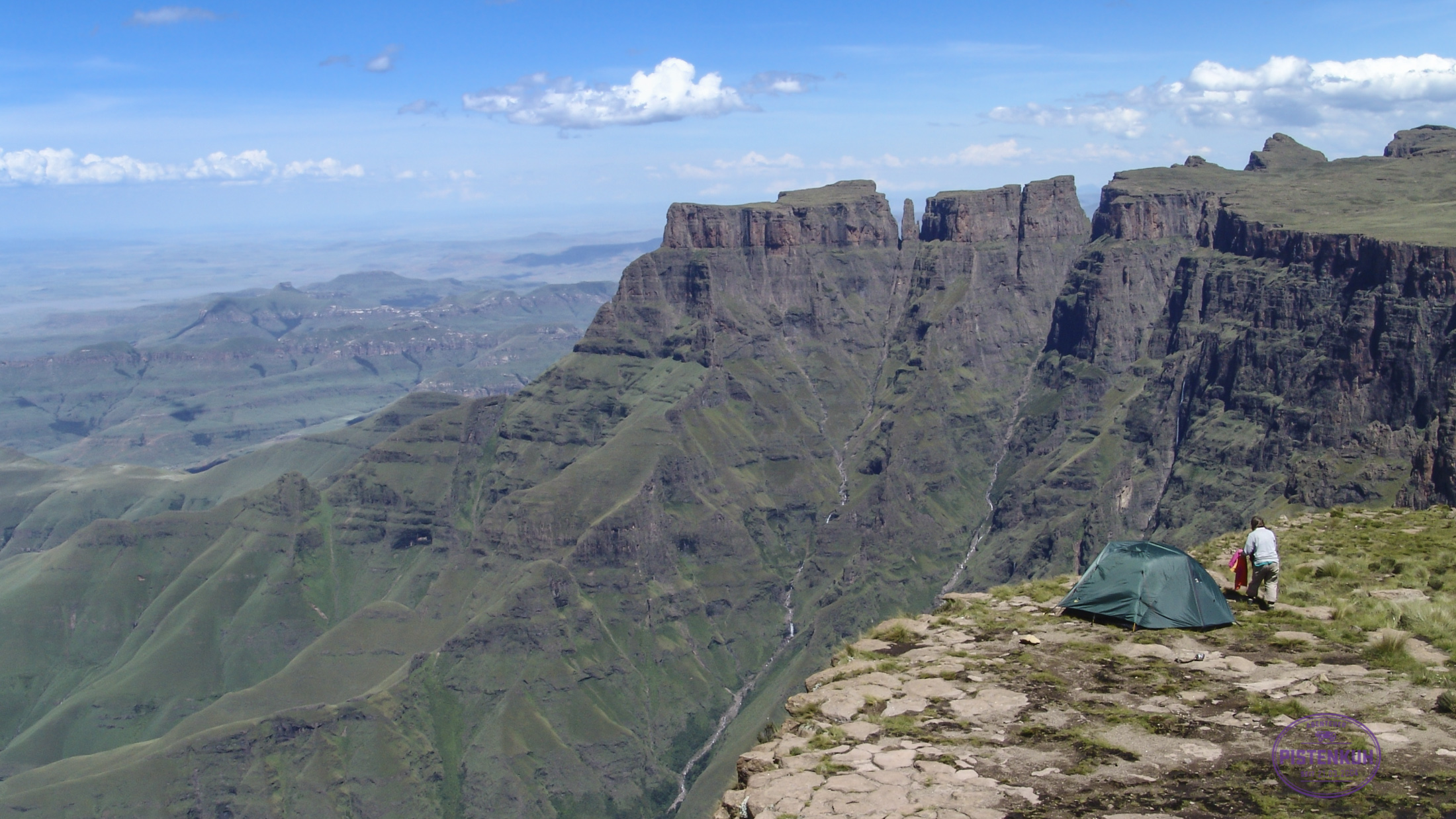 Zelten in den Drakensbergen