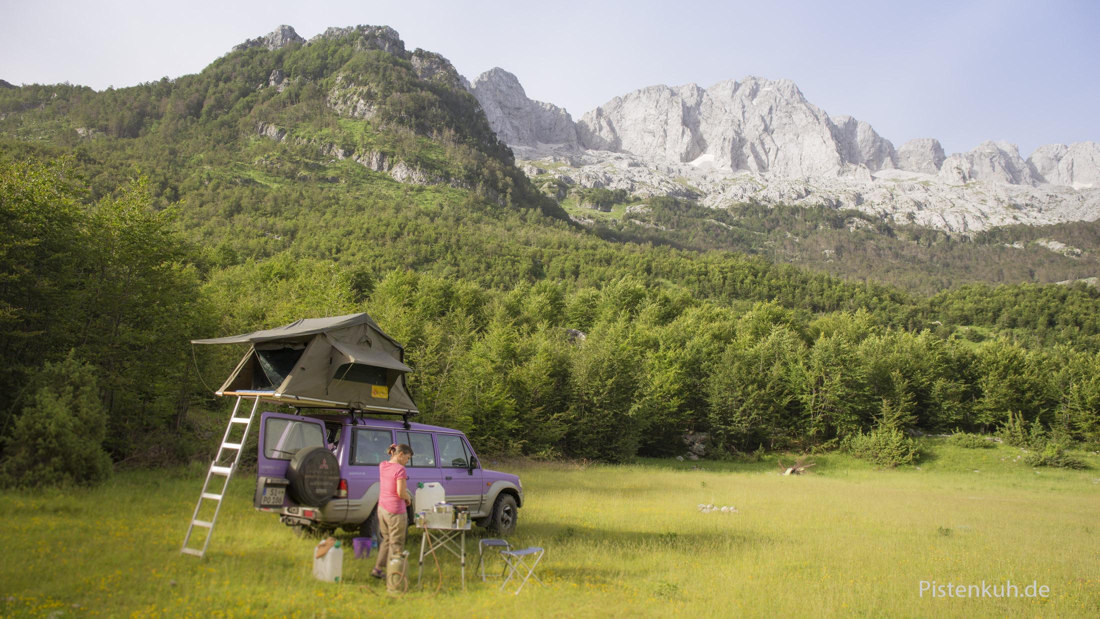 Freies campen in Albanien