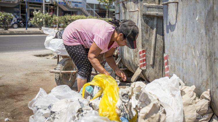 Müll sammeln um zu überleben.