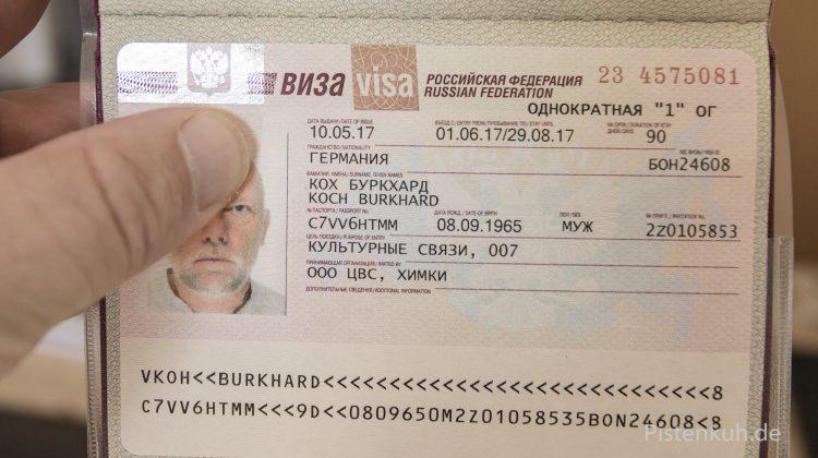 90 Tage Visum für Russland