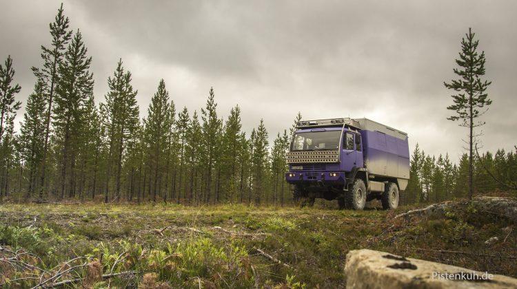 Offroad fahren in Schweden mit dem Steyr 12m18
