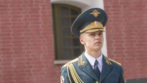 Junger Soldat in Russland