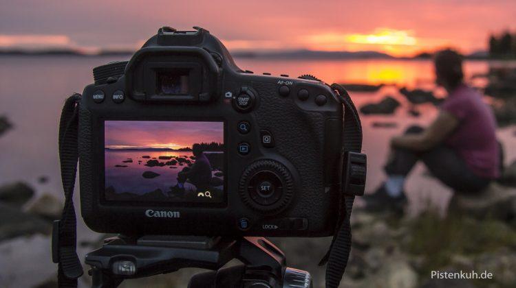 Sonnenuntergang fotografieren in Schweden
