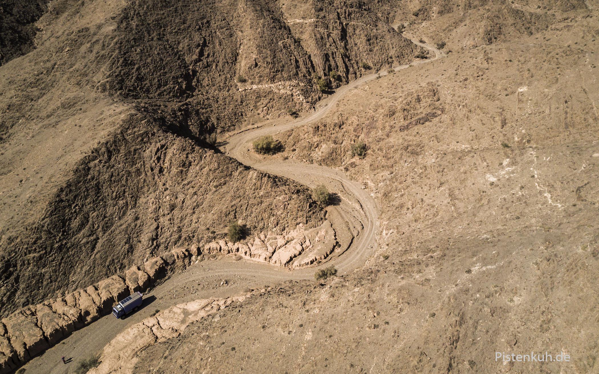Eine namenlose, völlig unbekannte Schlucht am Rand der Westsahara