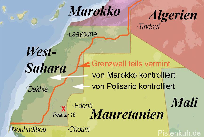 Gebietsaufteilung der Westsahara