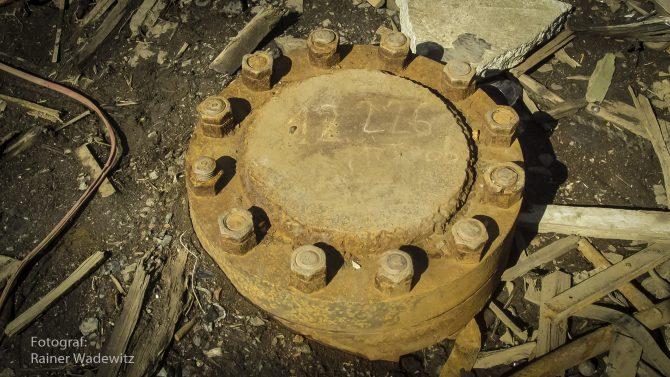 Abdeckung der Kola-Bohrung, dem tiefsten Loch der Erde