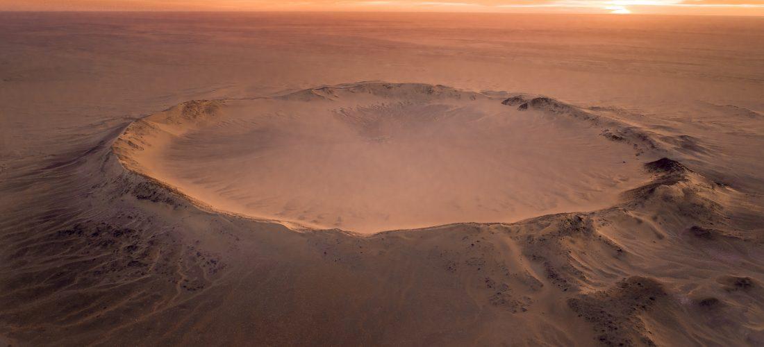Krater Tenoumer – Wie das Bild entstand