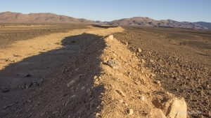 Grenzanlage in Marokko entlang der algerischen Grenze
