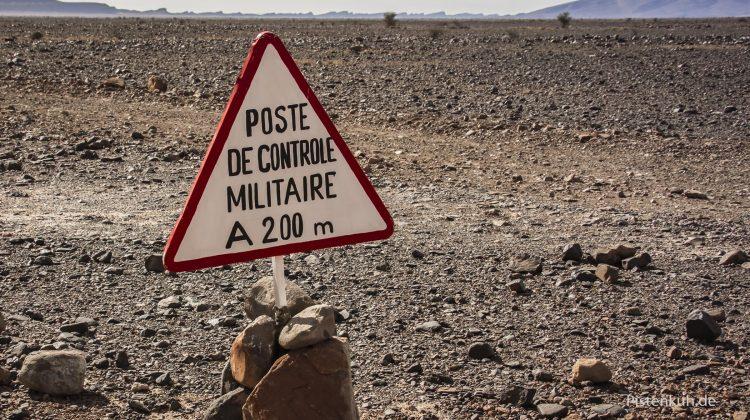Hier beginn das militärische Sperrgebiet