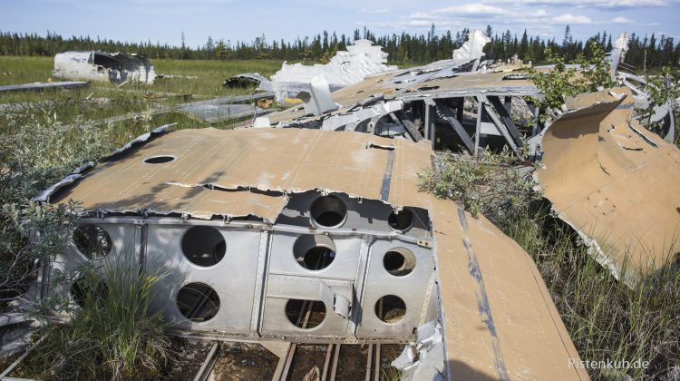 Flugzeugwrack in Schweden