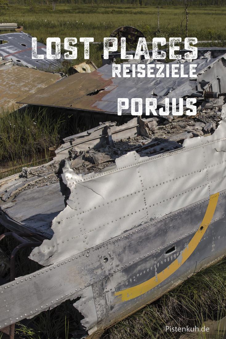 Flugzeugwrack bei Porjus