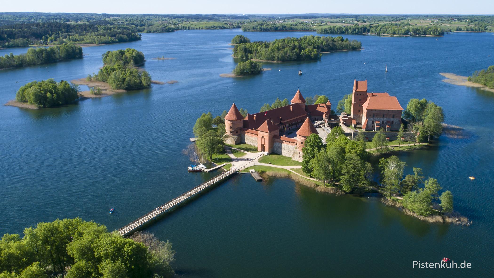 Vielleicht die schönste Burg in Litauen.
